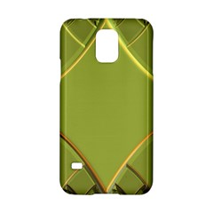 Fractal Green Diamonds Background Samsung Galaxy S5 Hardshell Case