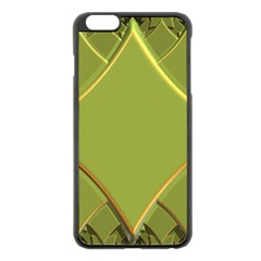 Fractal Green Diamonds Background Apple iPhone 6 Plus/6S Plus Black Enamel Case