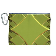 Fractal Green Diamonds Background Canvas Cosmetic Bag (XL)