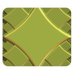 Fractal Green Diamonds Background Double Sided Flano Blanket (Small)