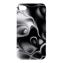 Fractal Black Liquid Art In 3d Glass Frame Apple iPhone 4/4S Hardshell Case