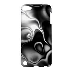 Fractal Black Liquid Art In 3d Glass Frame Apple iPod Touch 5 Hardshell Case