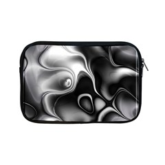 Fractal Black Liquid Art In 3d Glass Frame Apple iPad Mini Zipper Cases