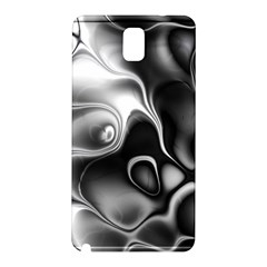 Fractal Black Liquid Art In 3d Glass Frame Samsung Galaxy Note 3 N9005 Hardshell Back Case