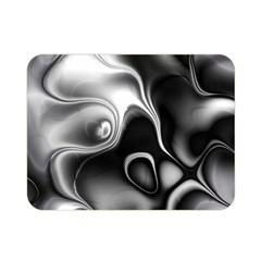 Fractal Black Liquid Art In 3d Glass Frame Double Sided Flano Blanket (mini)