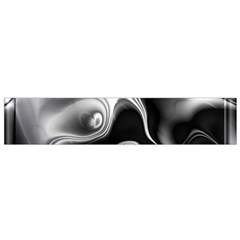 Fractal Black Liquid Art In 3d Glass Frame Flano Scarf (small)