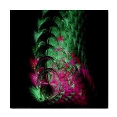Pink And Green Shapes Make A Pretty Fractal Image Tile Coasters