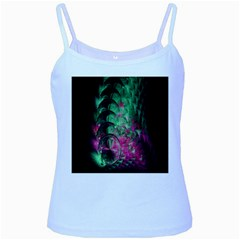 Pink And Green Shapes Make A Pretty Fractal Image Baby Blue Spaghetti Tank