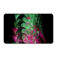 Pink And Green Shapes Make A Pretty Fractal Image Magnet (Rectangular)