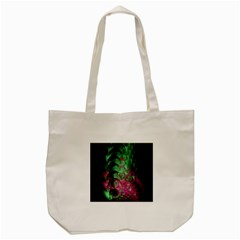 Pink And Green Shapes Make A Pretty Fractal Image Tote Bag (cream)