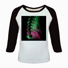 Pink And Green Shapes Make A Pretty Fractal Image Kids Baseball Jerseys