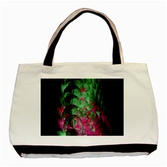 Pink And Green Shapes Make A Pretty Fractal Image Basic Tote Bag