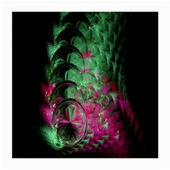 Pink And Green Shapes Make A Pretty Fractal Image Medium Glasses Cloth (2 Side)