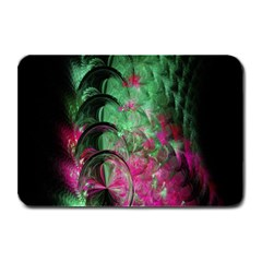 Pink And Green Shapes Make A Pretty Fractal Image Plate Mats