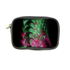 Pink And Green Shapes Make A Pretty Fractal Image Coin Purse