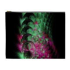Pink And Green Shapes Make A Pretty Fractal Image Cosmetic Bag (xl)