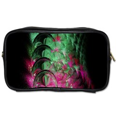 Pink And Green Shapes Make A Pretty Fractal Image Toiletries Bags 2 Side