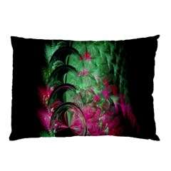 Pink And Green Shapes Make A Pretty Fractal Image Pillow Case (two Sides)