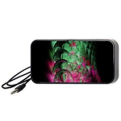 Pink And Green Shapes Make A Pretty Fractal Image Portable Speaker (Black)