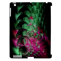 Pink And Green Shapes Make A Pretty Fractal Image Apple iPad 3/4 Hardshell Case (Compatible with Smart Cover)