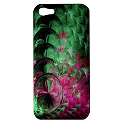 Pink And Green Shapes Make A Pretty Fractal Image Apple iPhone 5 Hardshell Case