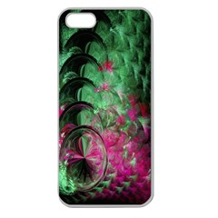 Pink And Green Shapes Make A Pretty Fractal Image Apple Seamless iPhone 5 Case (Clear)