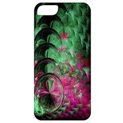 Pink And Green Shapes Make A Pretty Fractal Image Apple Iphone 5 Classic Hardshell Case