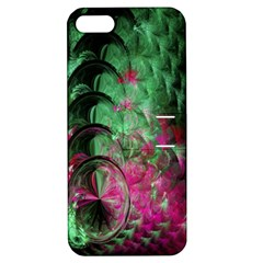 Pink And Green Shapes Make A Pretty Fractal Image Apple iPhone 5 Hardshell Case with Stand