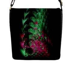 Pink And Green Shapes Make A Pretty Fractal Image Flap Messenger Bag (L)