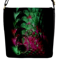 Pink And Green Shapes Make A Pretty Fractal Image Flap Messenger Bag (S)