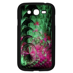 Pink And Green Shapes Make A Pretty Fractal Image Samsung Galaxy Grand DUOS I9082 Case (Black)
