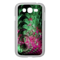 Pink And Green Shapes Make A Pretty Fractal Image Samsung Galaxy Grand DUOS I9082 Case (White)