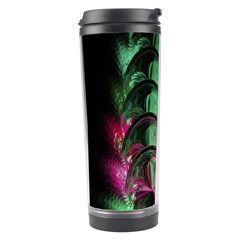 Pink And Green Shapes Make A Pretty Fractal Image Travel Tumbler