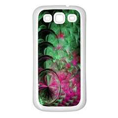 Pink And Green Shapes Make A Pretty Fractal Image Samsung Galaxy S3 Back Case (White)