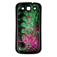 Pink And Green Shapes Make A Pretty Fractal Image Samsung Galaxy S3 Back Case (black)