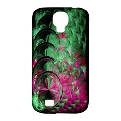 Pink And Green Shapes Make A Pretty Fractal Image Samsung Galaxy S4 Classic Hardshell Case (PC+Silicone)