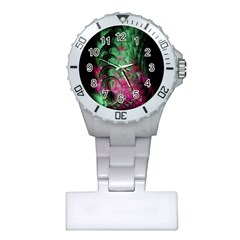 Pink And Green Shapes Make A Pretty Fractal Image Plastic Nurses Watch