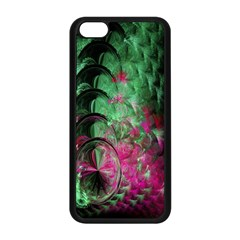 Pink And Green Shapes Make A Pretty Fractal Image Apple iPhone 5C Seamless Case (Black)
