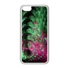 Pink And Green Shapes Make A Pretty Fractal Image Apple iPhone 5C Seamless Case (White)