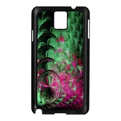 Pink And Green Shapes Make A Pretty Fractal Image Samsung Galaxy Note 3 N9005 Case (Black)