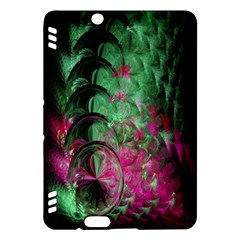 Pink And Green Shapes Make A Pretty Fractal Image Kindle Fire HDX Hardshell Case