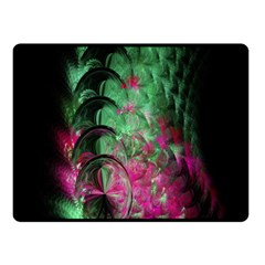 Pink And Green Shapes Make A Pretty Fractal Image Double Sided Fleece Blanket (Small)