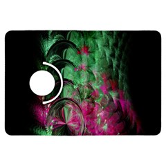 Pink And Green Shapes Make A Pretty Fractal Image Kindle Fire HDX Flip 360 Case