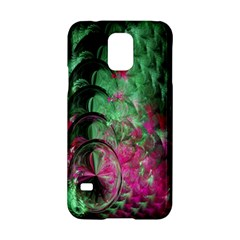 Pink And Green Shapes Make A Pretty Fractal Image Samsung Galaxy S5 Hardshell Case
