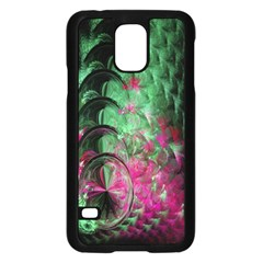 Pink And Green Shapes Make A Pretty Fractal Image Samsung Galaxy S5 Case (Black)