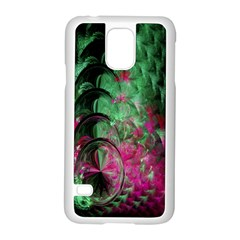 Pink And Green Shapes Make A Pretty Fractal Image Samsung Galaxy S5 Case (white)