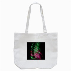 Pink And Green Shapes Make A Pretty Fractal Image Tote Bag (White)