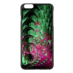 Pink And Green Shapes Make A Pretty Fractal Image Apple iPhone 6 Plus/6S Plus Black Enamel Case