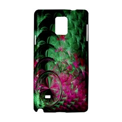 Pink And Green Shapes Make A Pretty Fractal Image Samsung Galaxy Note 4 Hardshell Case