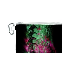 Pink And Green Shapes Make A Pretty Fractal Image Canvas Cosmetic Bag (S)